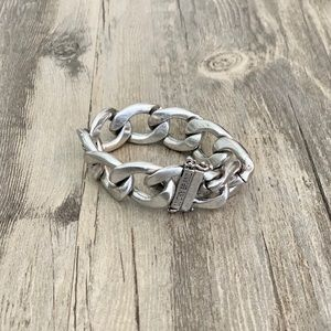 Lucky Brand Silver Chunky Chain Layering Bracelet